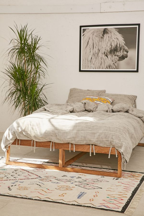 Morey Platform Bed | Urban Outfitters on Modern Boho Bed Frame  id=86220