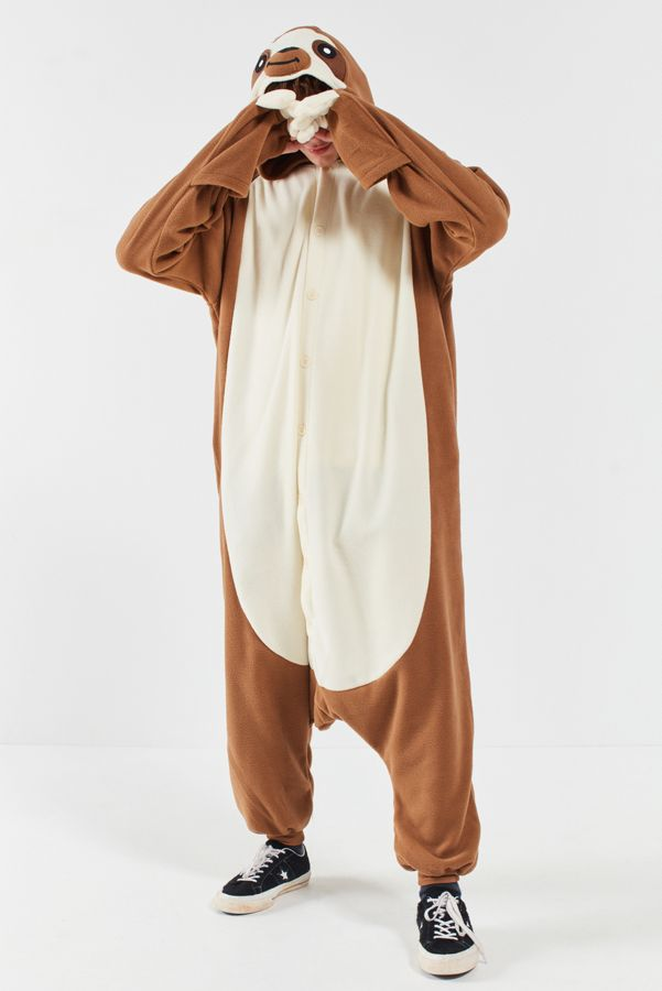your urban outfitters gallery kigurumi sloth costume