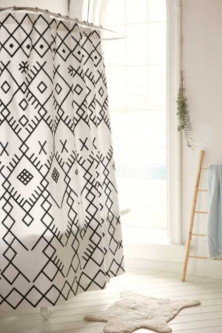 Magical Thinking Printed Boucherouite Shower Curtain