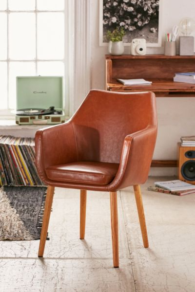 Nora Saddle Chair - Brown One Size at Urban Outfitters