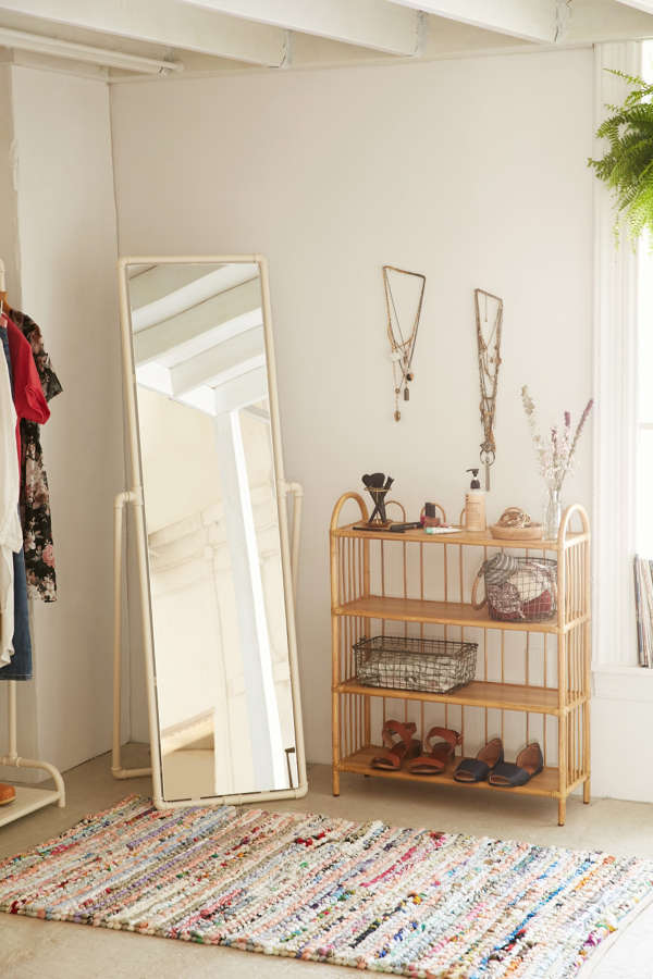 Pipe standing mirror urban outfitters for Long stand up mirror