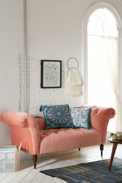 Antoinette Fainting Sofa Coral Urban Outfitters
