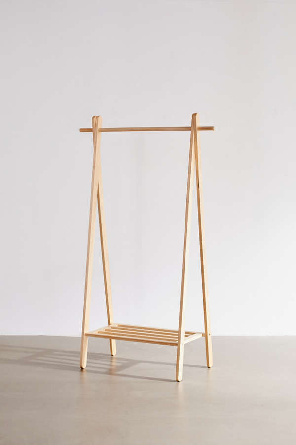Clothes Hanger Shelf Wooden Clothing Rack Urban Outfitters