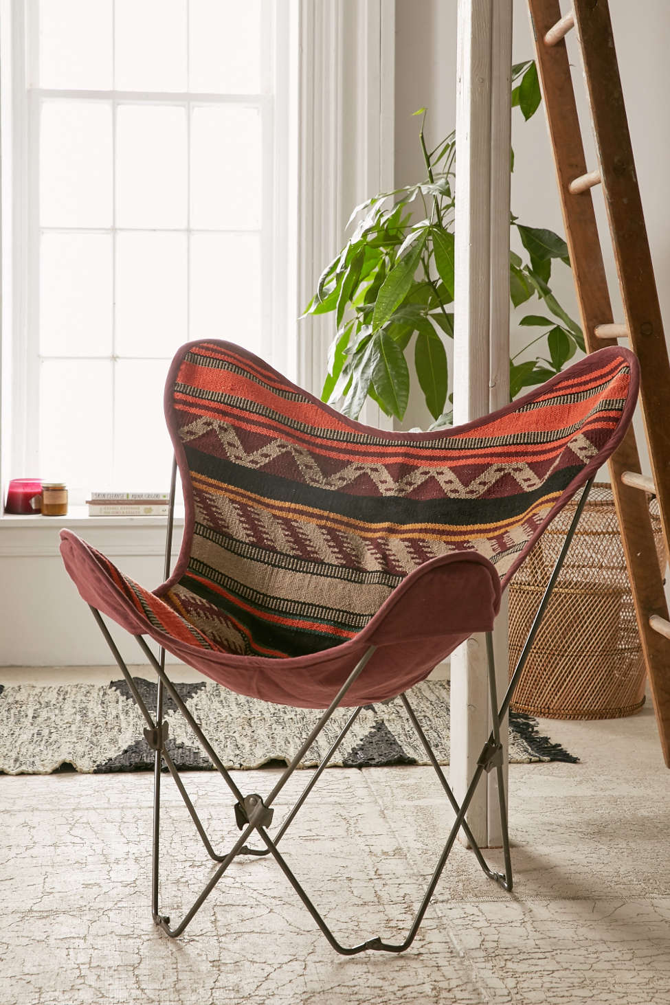 bobo kilim butterfly chair cover | urban outfitters