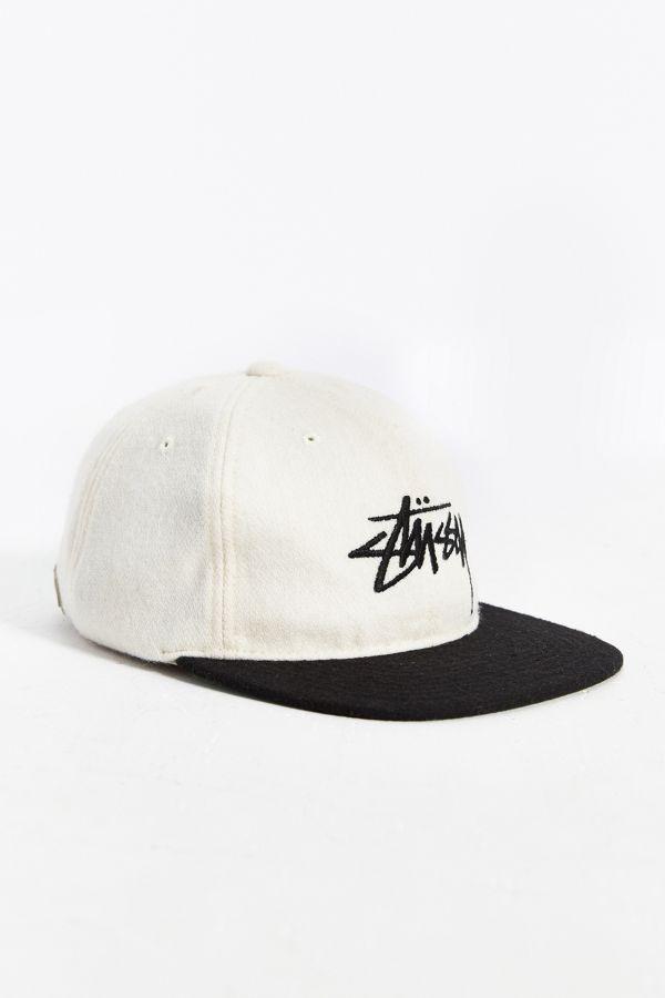 d859aa498b1 Stussy Stock Wool Strapback Hat