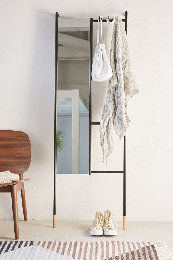 Natural Wood Full Length Mirror