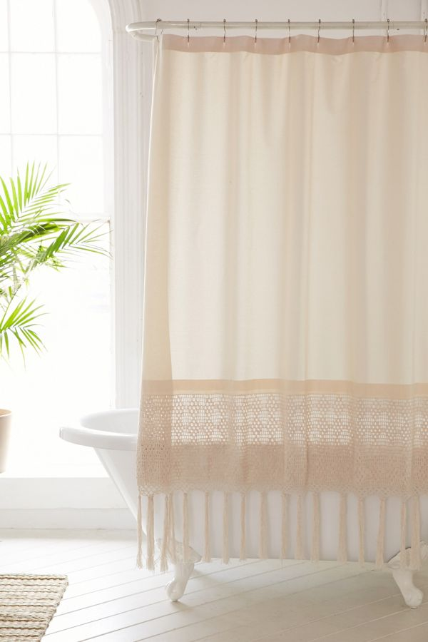 Plum Bow Kelsi Crochet Shower Curtain