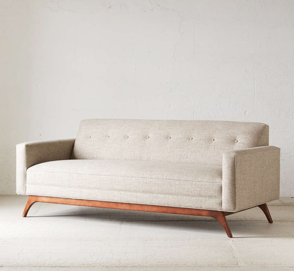 Slide View: 3: Atomic Tufted Sofa