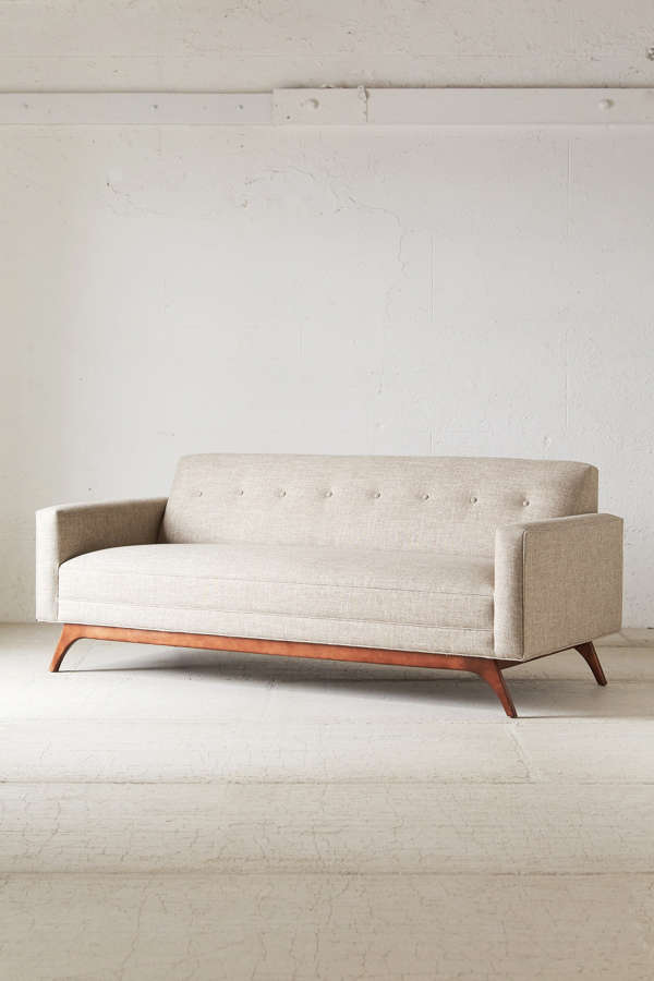 slide view 4 berwick mid century sleeper sofa