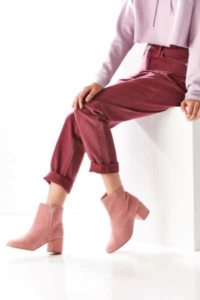 Thelma Suede Ankle Boot - Rose 8. at Urban Outfitters