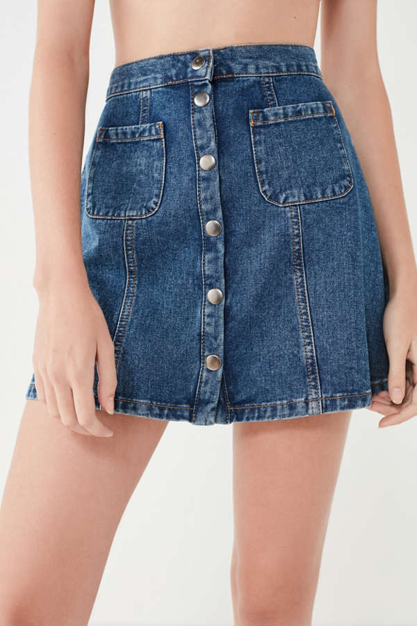 BDG Denim Button-Front Skirt | Urban Outfitters