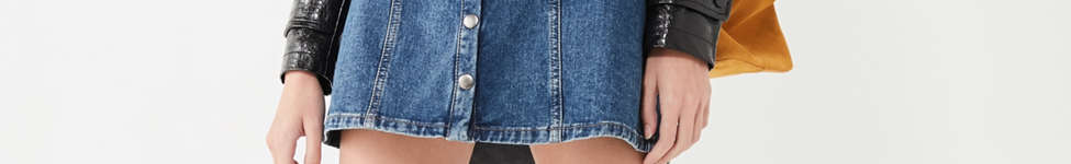 Thumbnail View 5: BDG Denim Button-Front Skirt