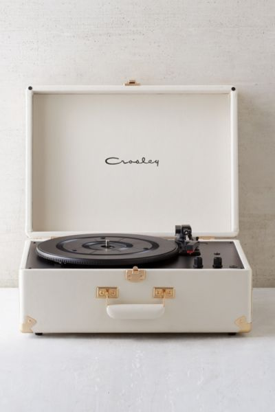 Crosley X Uo Keepsake White Portable Usb Vinyl Record