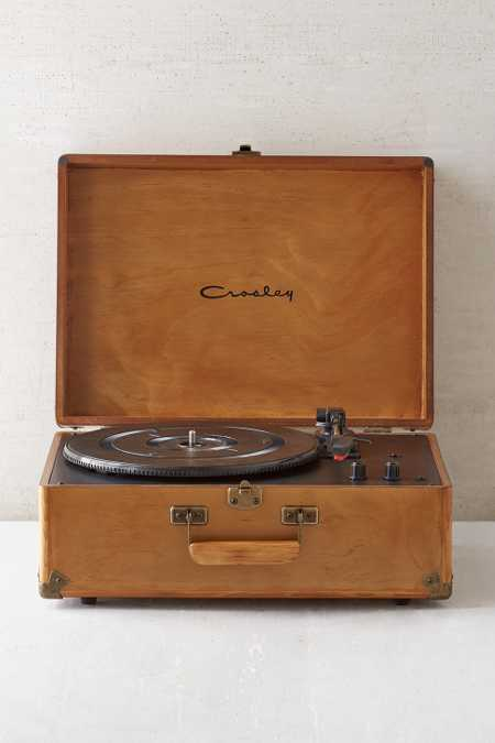 Slide View: 1: Crosley X UO Keepsake Wood Portable USB Vinyl Record Player