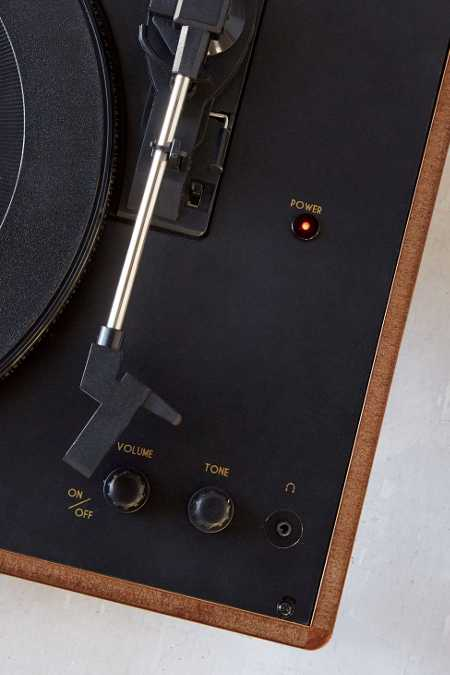 Slide View: 3: Crosley X UO Keepsake Wood Portable USB Vinyl Record Player