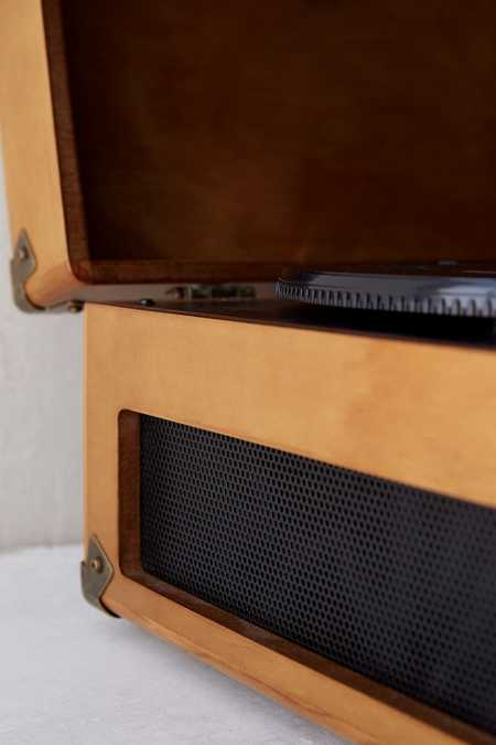 Slide View: 4: Crosley X UO Keepsake Wood Portable USB Vinyl Record Player