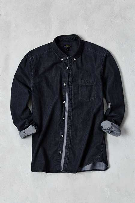 Stevens Long-Sleeve Denim Button-Down Shirt