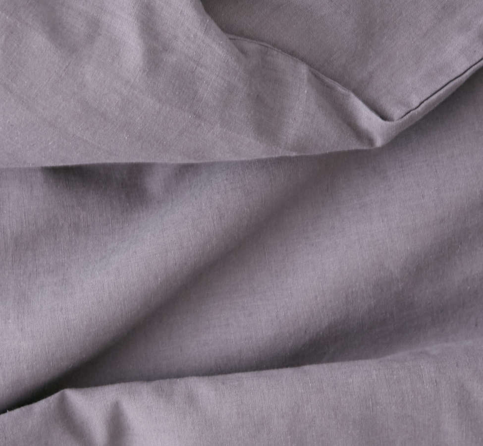 Slide View: 4: Assembly Home Linen Blend Duvet Cover - Charcoal