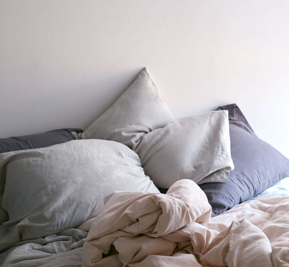Slide View: 6: Assembly Home Linen Blend Duvet Cover - Charcoal