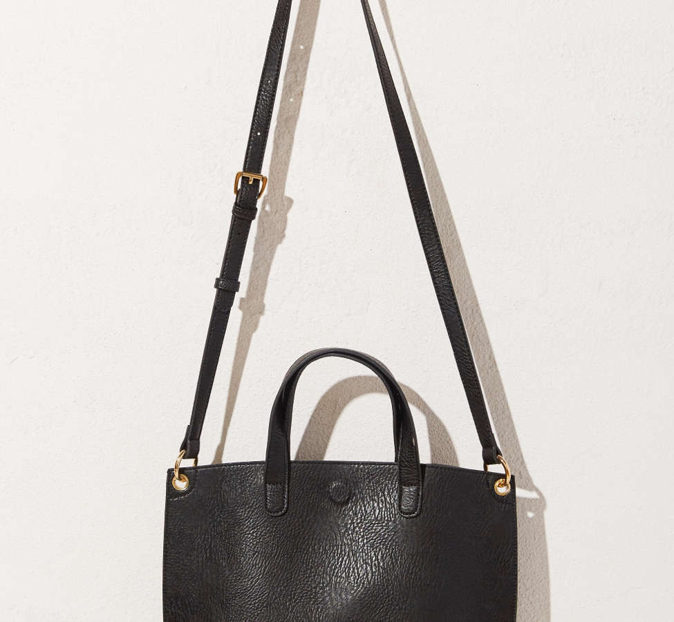 Slide View: 4: Mini Reversible Faux Leather Tote Bag