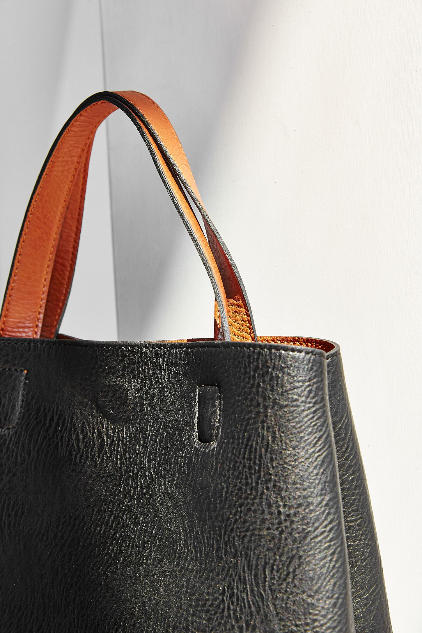 Slide View 3 Mini Reversible Faux Leather Tote Bag