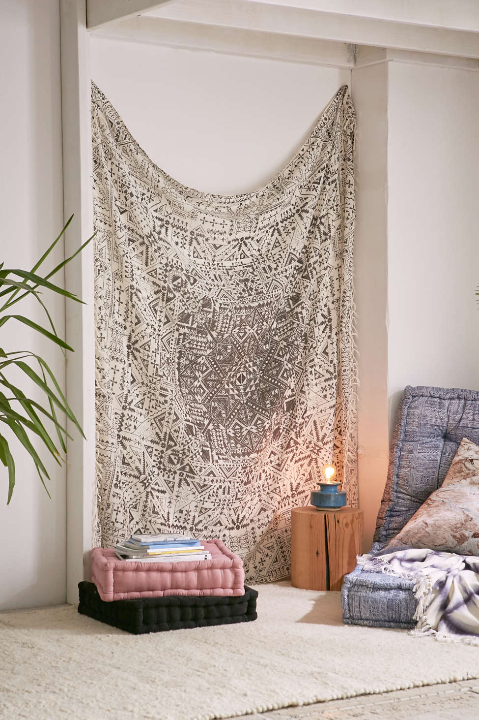 magical thinking izmir maze fringe tapestry | urban outfitters
