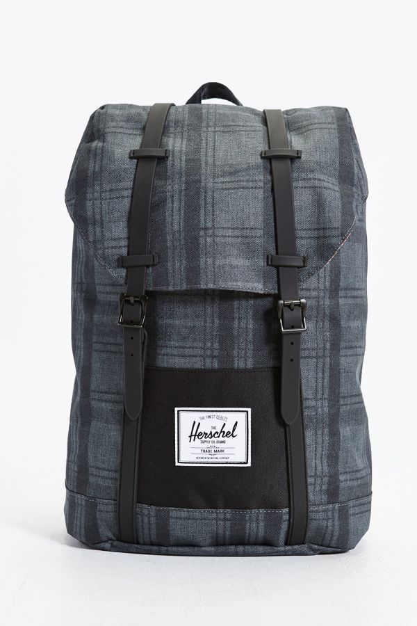 Your Urban Outfitters Gallery. Herschel Supply Co. Retreat Plaid Rubber  Strap Backpack 2e30424858