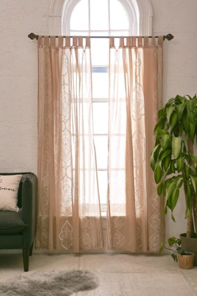 Jazmin Embroidered Curtain - Taupe 84