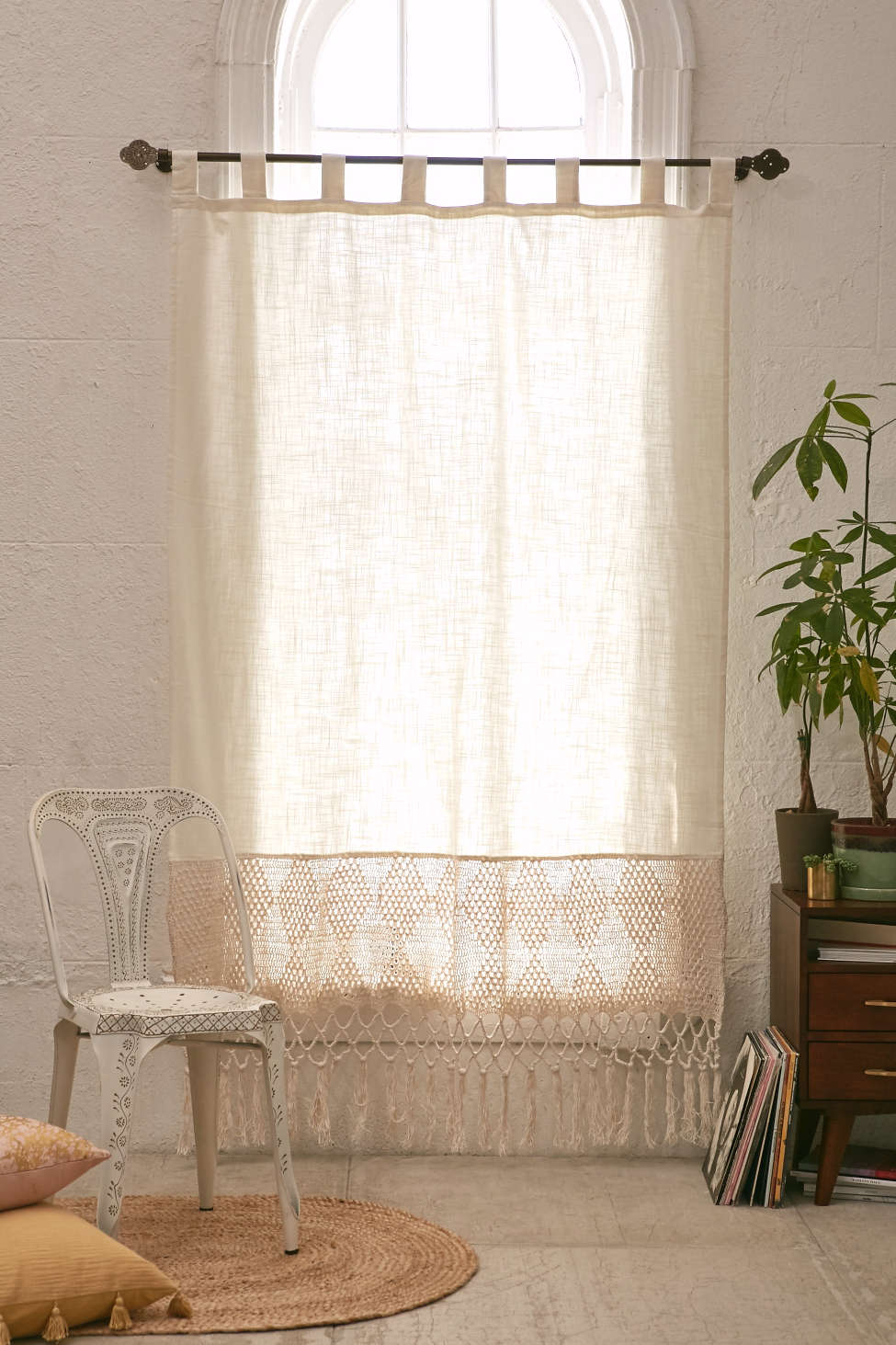 Slide View: 1: Delilah Crochet Curtain