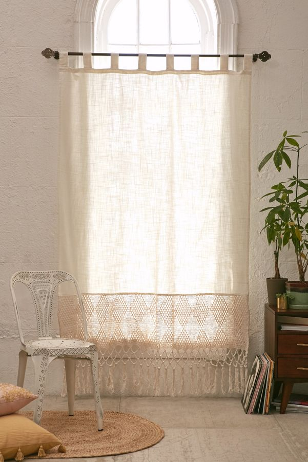 Delilah Crochet Curtain Urban Outfitters