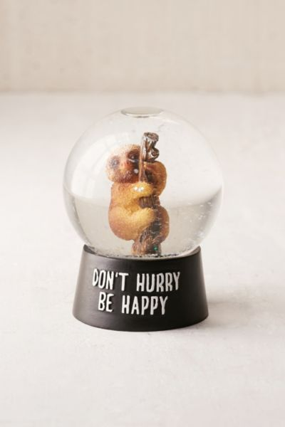 Sloth Snowglobe Urban Outfitters