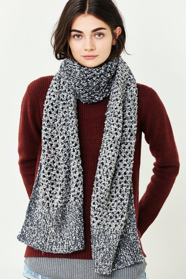 Open Lattice Knit Scarf Urban Outfitters