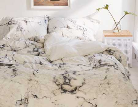 Slide View: 1: Assembly Home Marble Duvet Cover