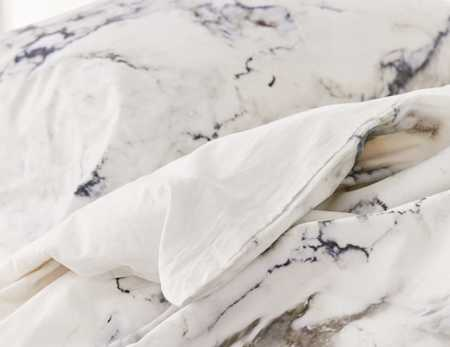 Slide View: 3: Assembly Home Marble Duvet Cover