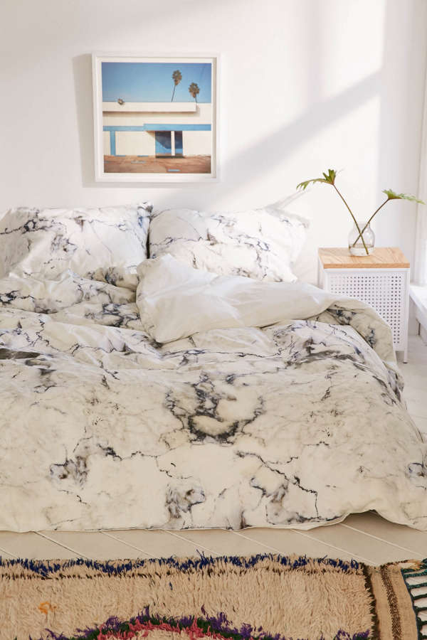 Assembly home marble duvet cover urban outfitters for Room decor urban outfitters uk