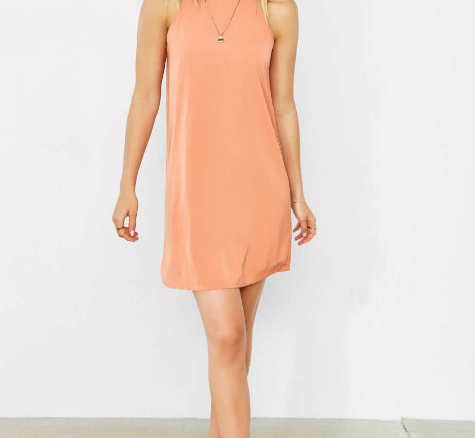 Slide View: 1: Cooperative High Neck Scallop Frock Dress