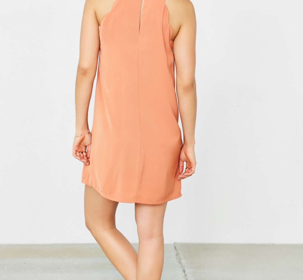 Slide View: 11: Cooperative High Neck Scallop Frock Dress
