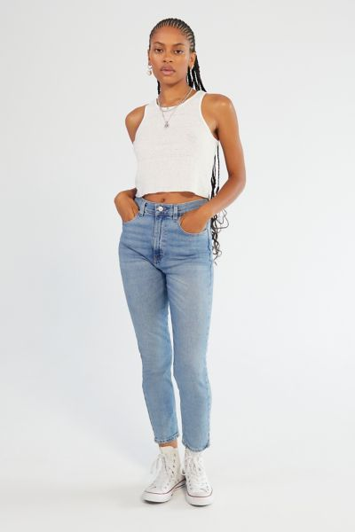 Bdg Girlfriend High Rise Jean Light Wash Urban Outfitters