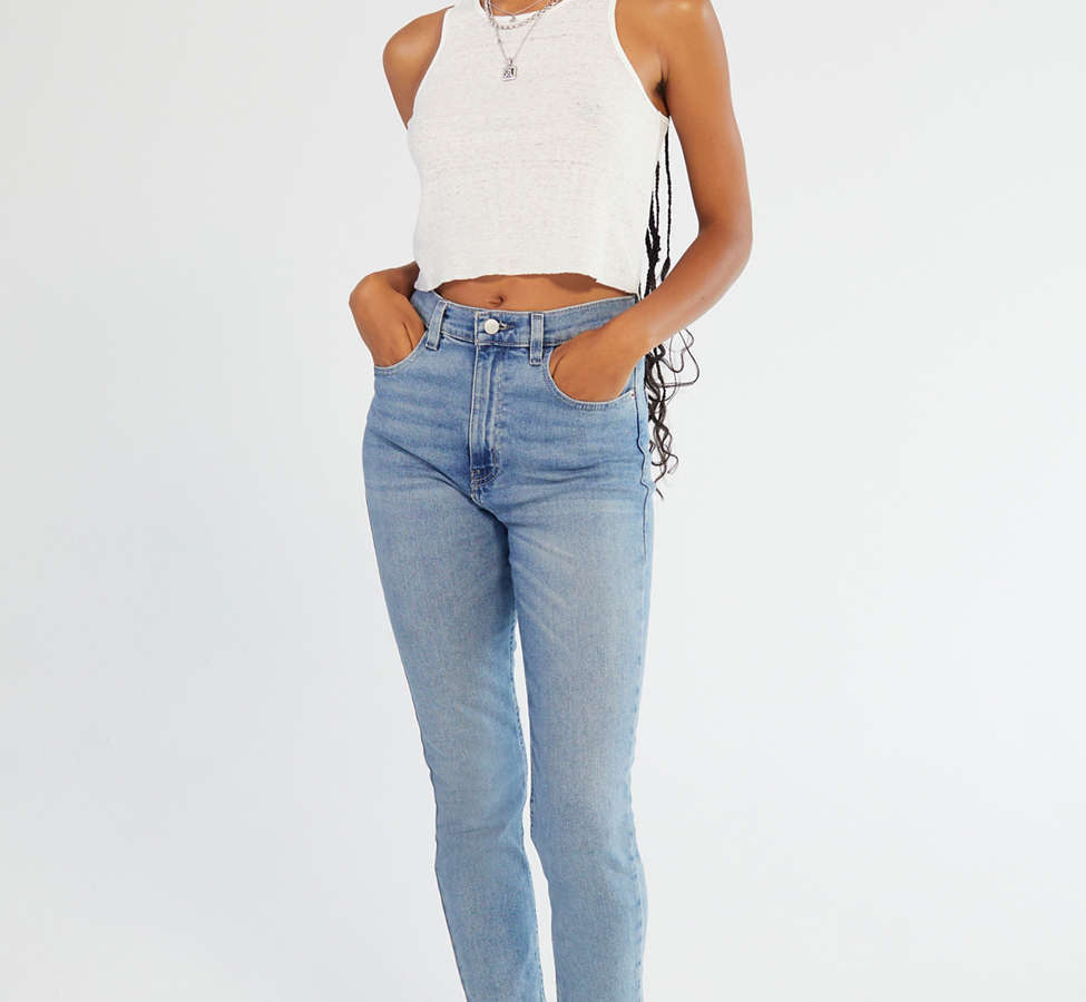 Slide View: 1: BDG Girlfriend High-Rise Jean - Light Wash