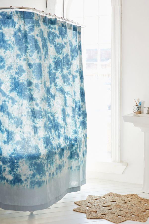 Hazy Tie Dye Shower Curtain
