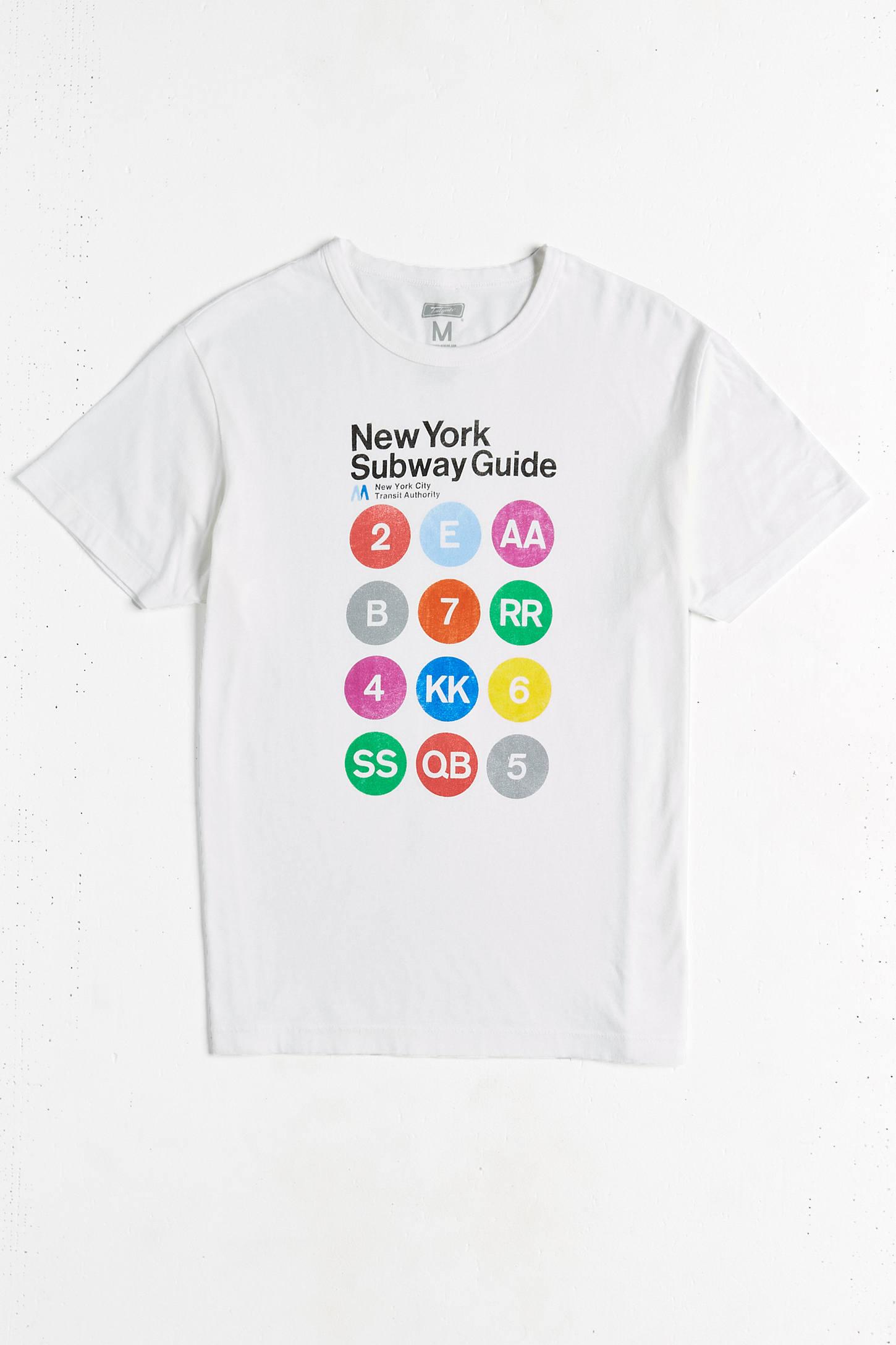 Nyc Subway Map Tshirt.New York Subway Map Tee Urban Outfitters