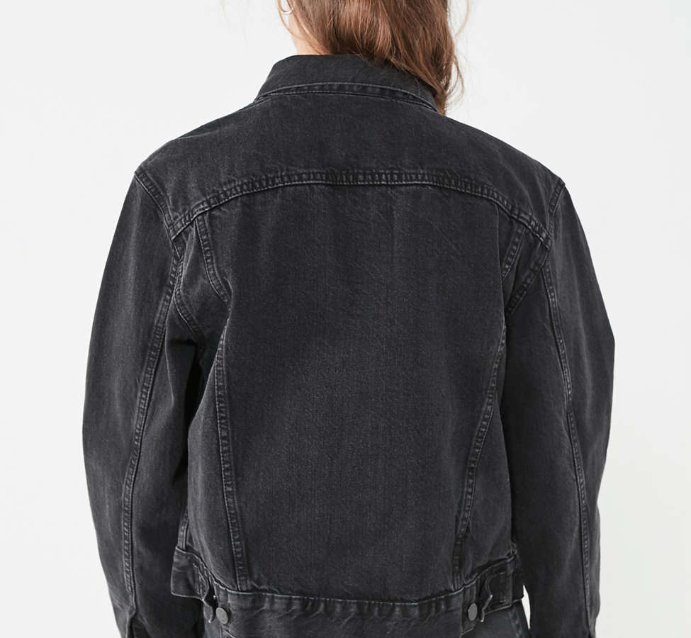 Slide View: 3: BDG Boyfriend Denim Trucker Jacket