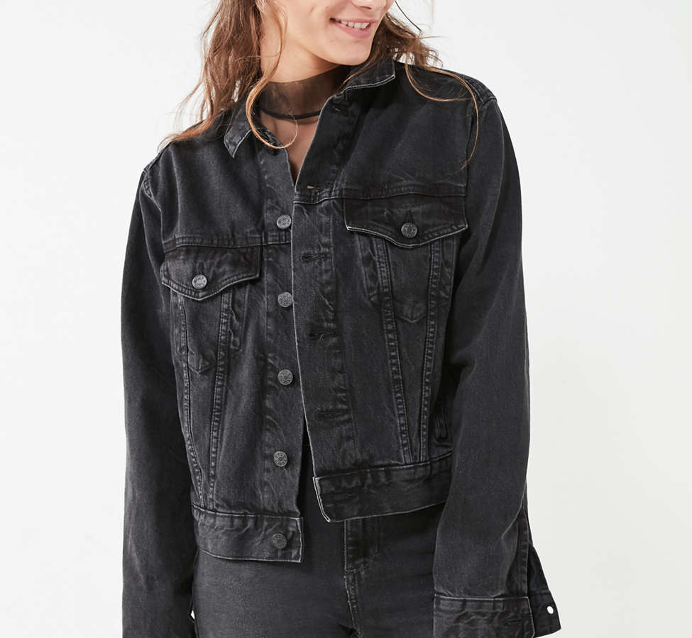 Slide View: 5: BDG Boyfriend Denim Trucker Jacket