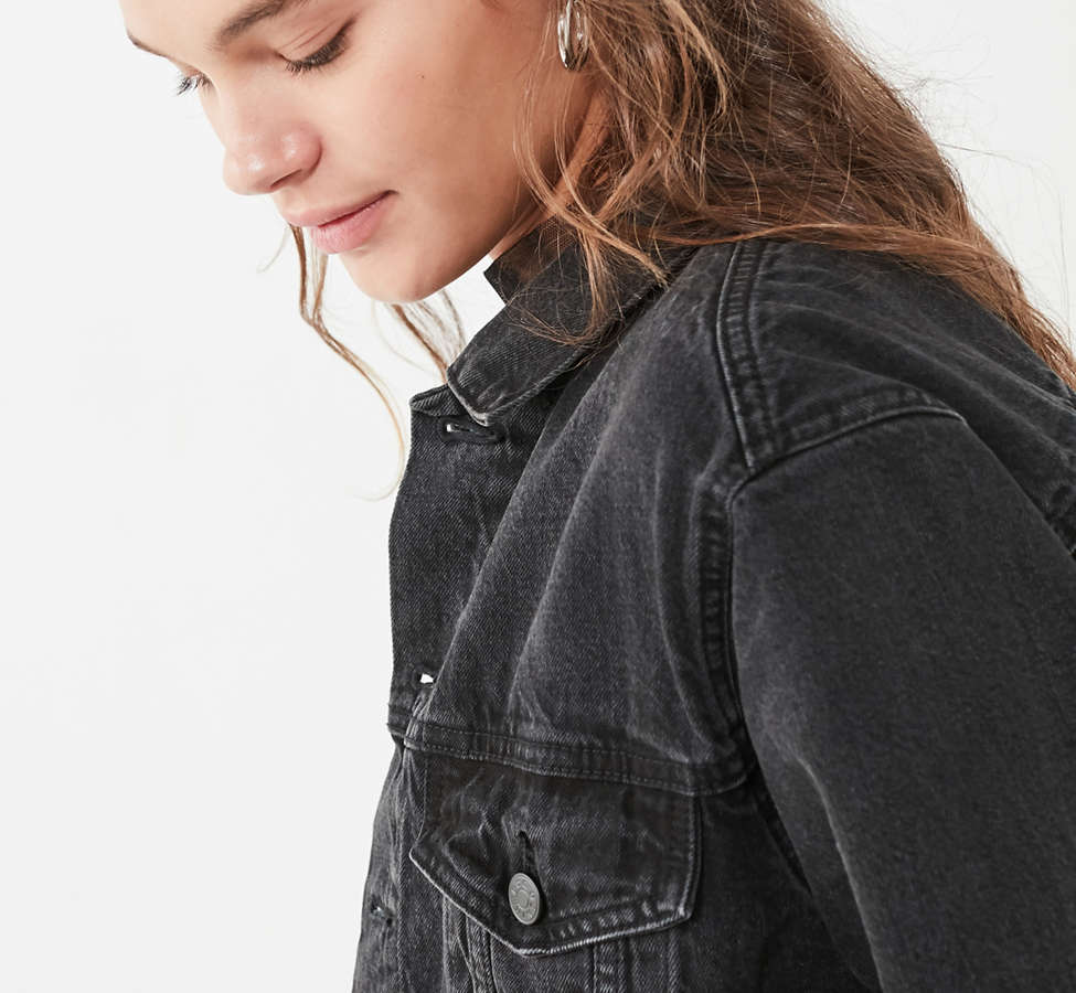 Slide View: 6: BDG Boyfriend Denim Trucker Jacket