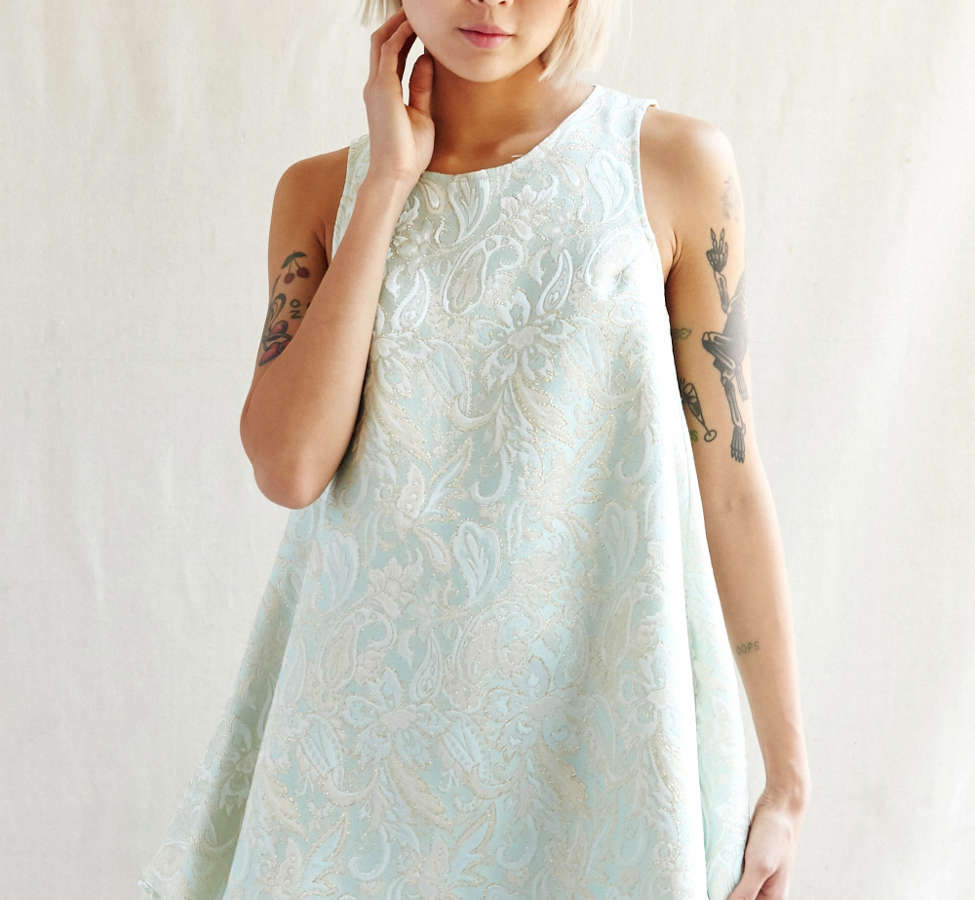 Slide View: 1: Urban Renewal Recycled Brocade Swing Dress