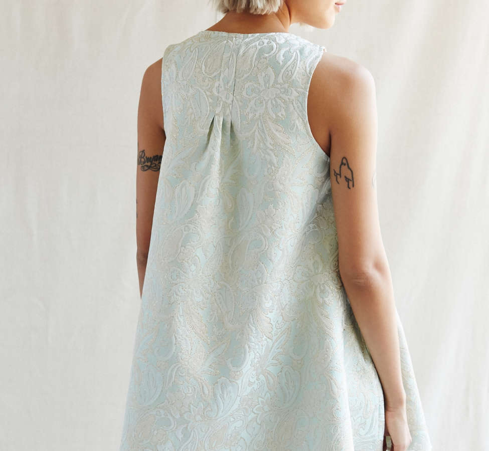 Slide View: 4: Urban Renewal Recycled Brocade Swing Dress