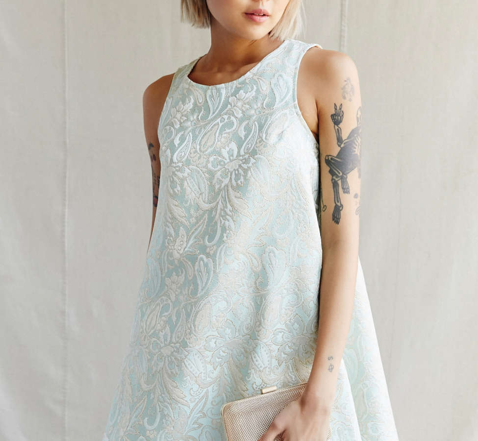 Slide View: 5: Urban Renewal Recycled Brocade Swing Dress