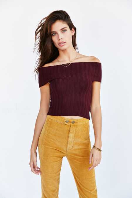 Silence + Noise Off-The-Shoulder Sweater Top
