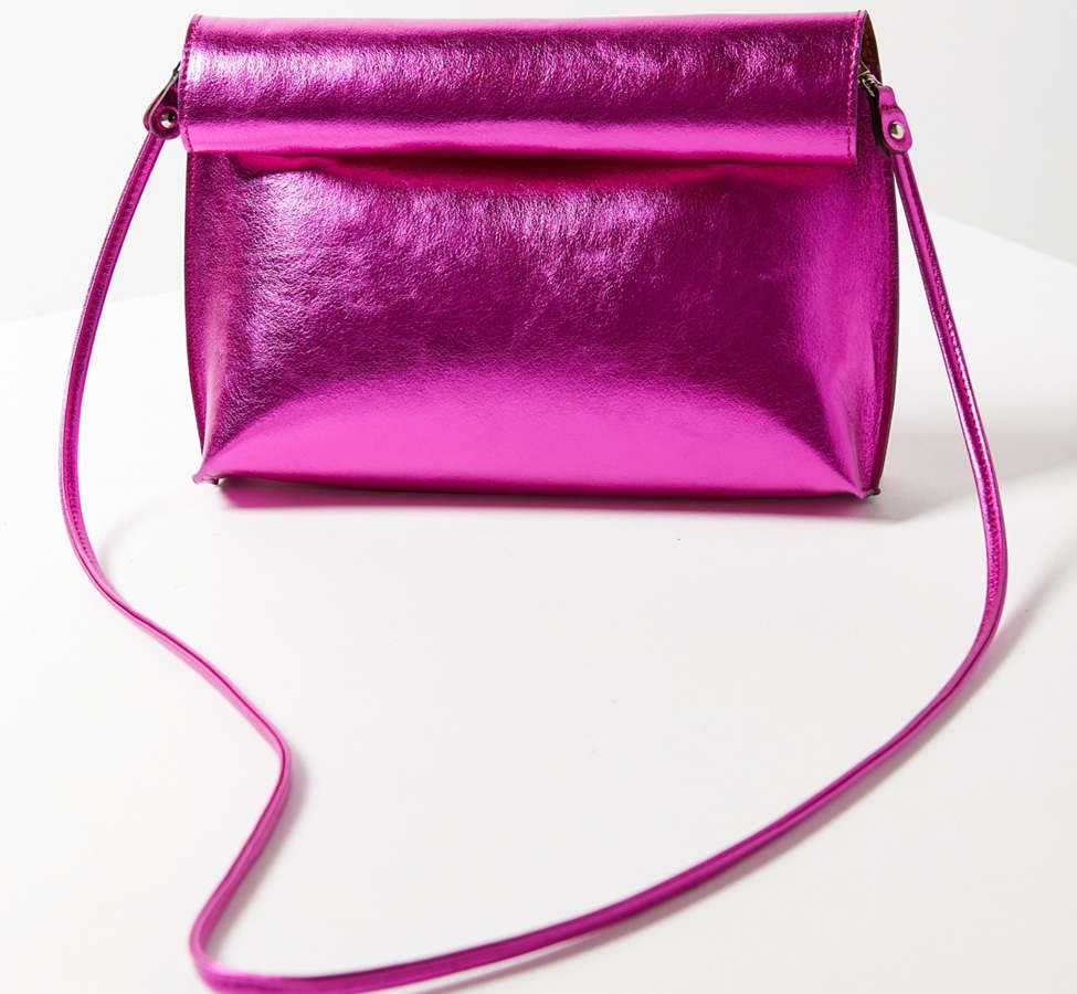 Slide View: 1: Silence + Noise Roll Clutch Crossbody Bag
