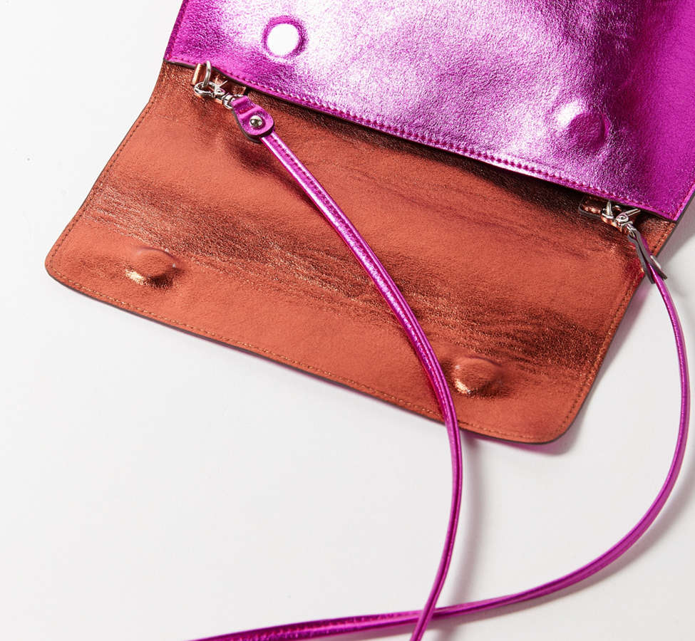Slide View: 3: Silence + Noise Roll Clutch Crossbody Bag